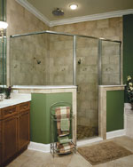 CrystalLine Frameless Shower Door