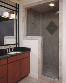 Signature Pivot Shower Door System in Wall Mount Configuration